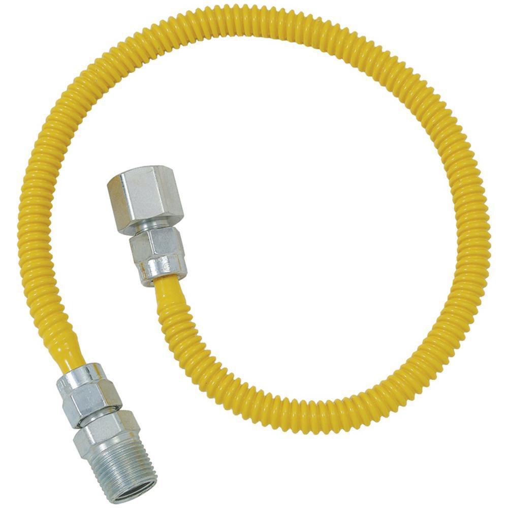 Gas Dryer and Water Heater Flex-Line (1/2 in. O.D. x 60 in. (1/2 in. FIP x 1/2 in. MIP)