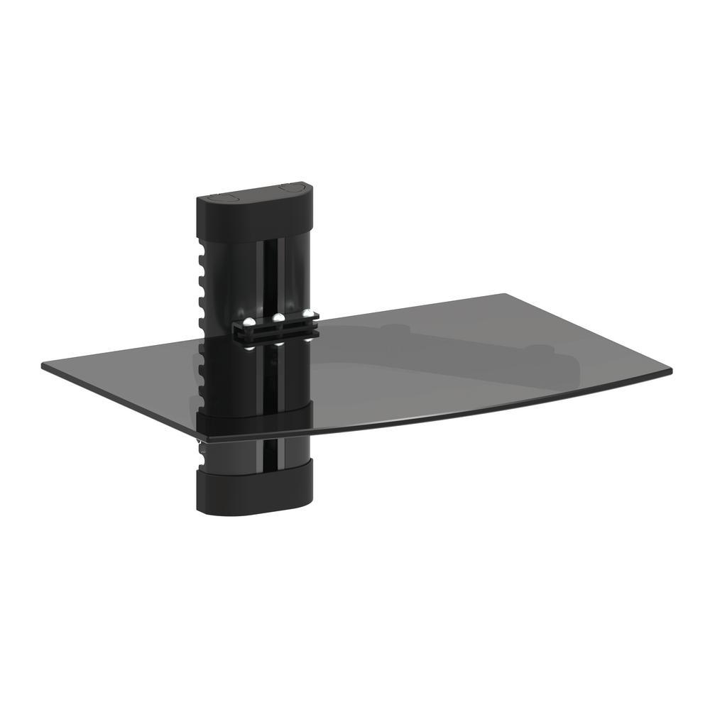 Adjustable Single Dvd Player Shelf Wall Mount With