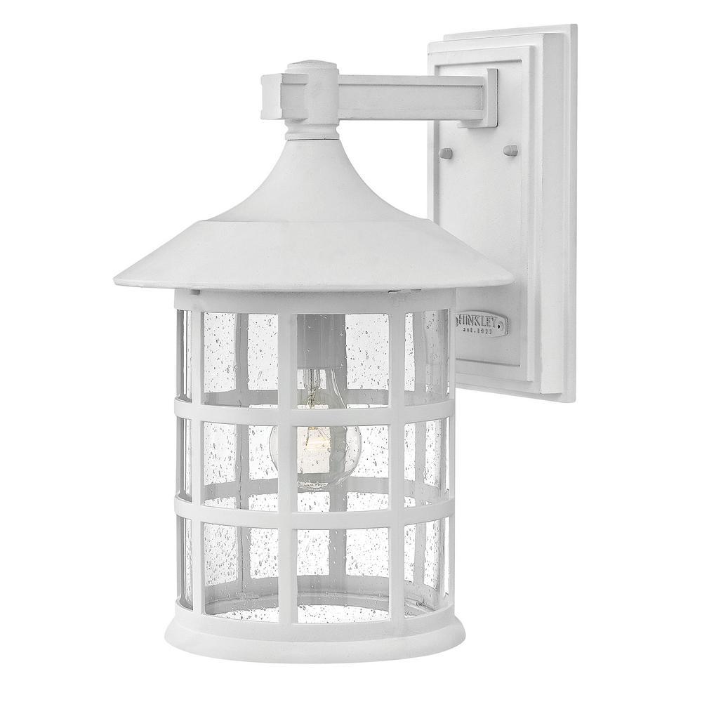 hinkley lighting freeport medium classic white outdoor wall lantern mount sconce 1804cw