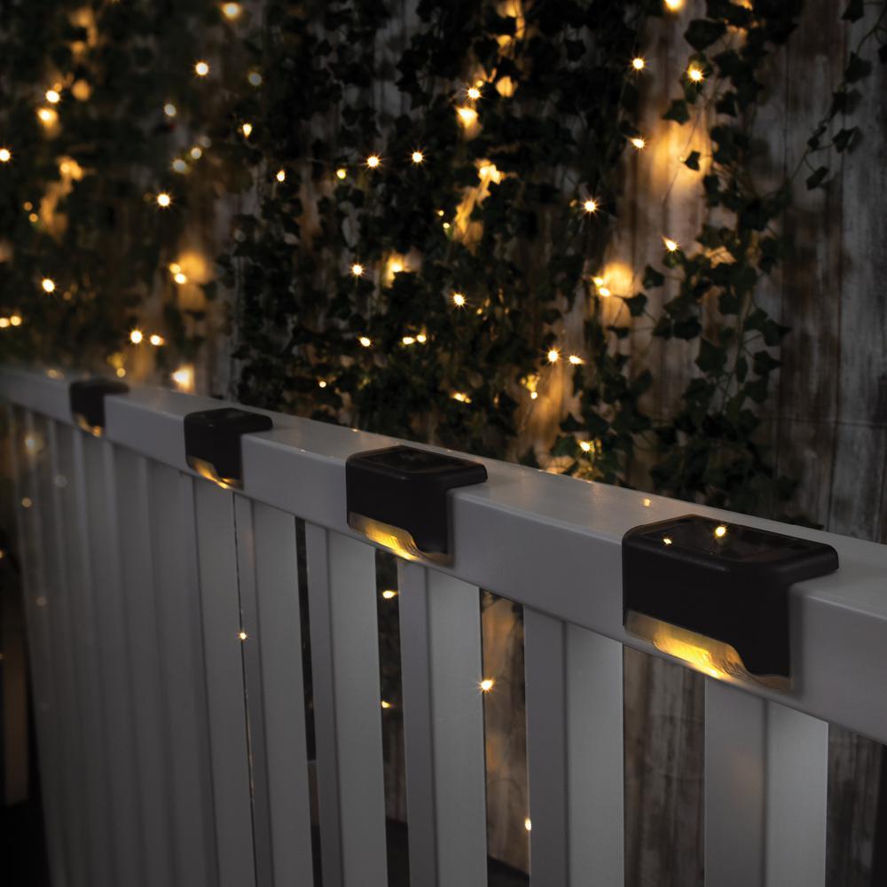 Interior 10 Piezas de Luces LED Weiyiroty Luz Solar LED de iluminaci/ón m/ás Fuerte jard/ín Exterior para Patio l/ámpara Solar LED de energ/ía Solar Pared