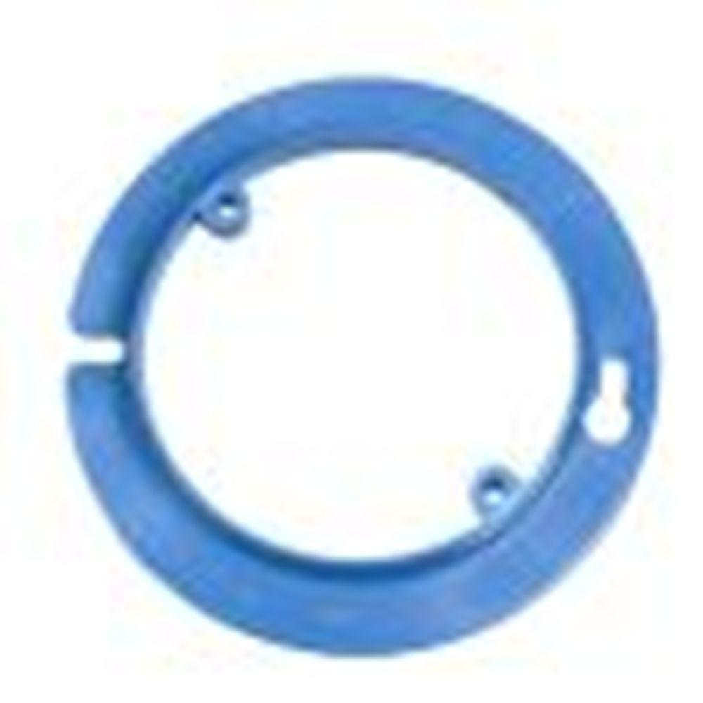 4 in. Blue Nonmetallic Round Plaster/Mud Ring for Octagon Ceiling Box