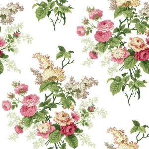 York Wallcoverings Waverly Cottage Emma's Garden Wallpaper by York Wallcoverings