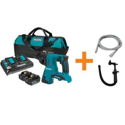 18-Volt X2 LXT Lithium-Ion (36-Volt) Cordless 1 in. Rotary Hammer Kit with 10 ft. Vacuum Hose and Dust Attachment