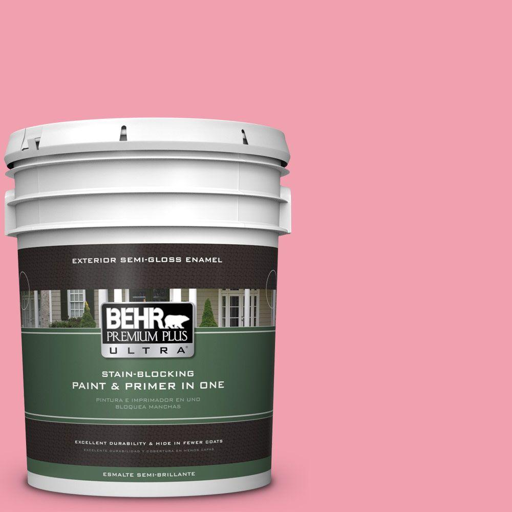 BEHR Premium Plus Ultra 5-gal. #120B-5 Candy Coated Semi-Gloss Enamel Exterior Paint