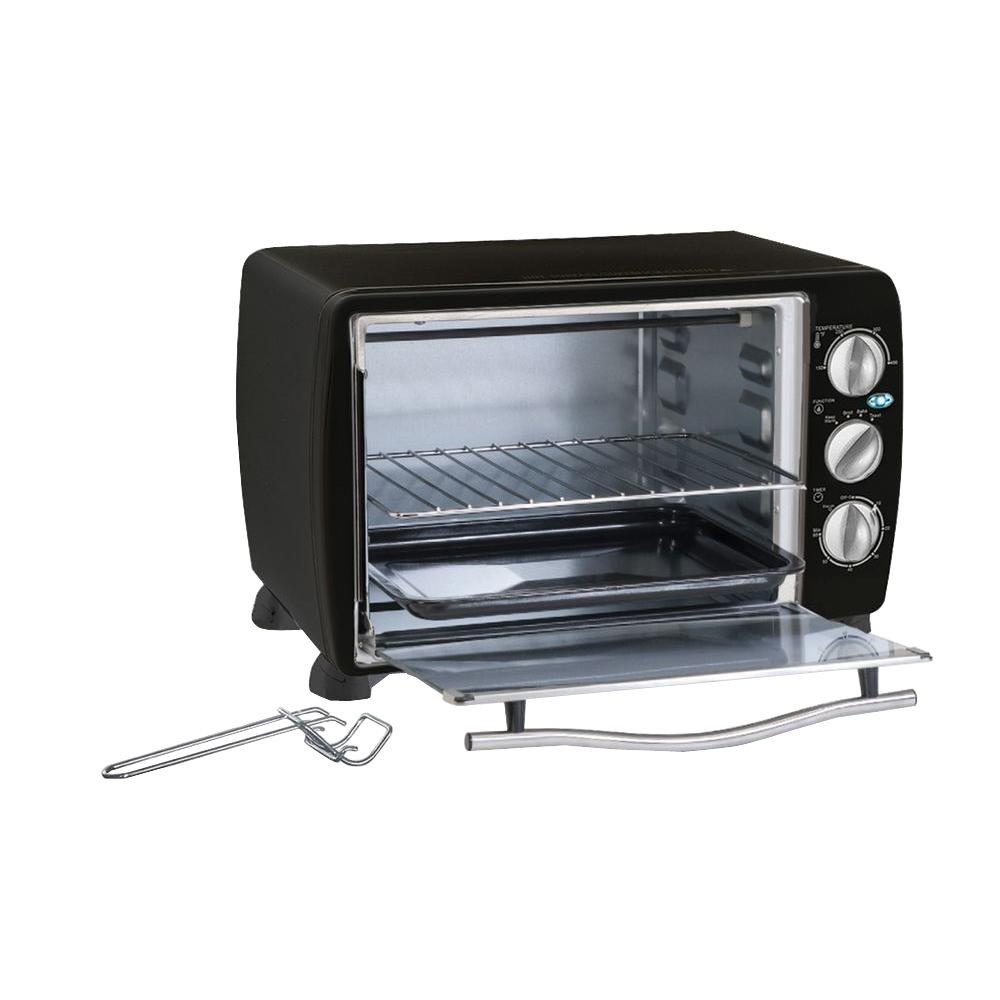 Black 6-Slice Toaster Oven