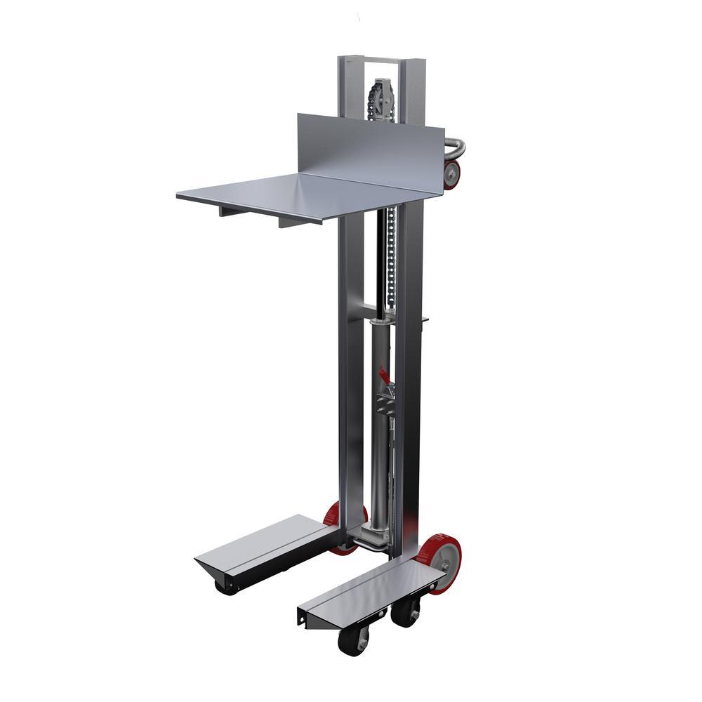 Vestil 24 In X 20 In Aluminum Lite Load Lift Foot Pump Allh 2420 4sfl The Home Depot