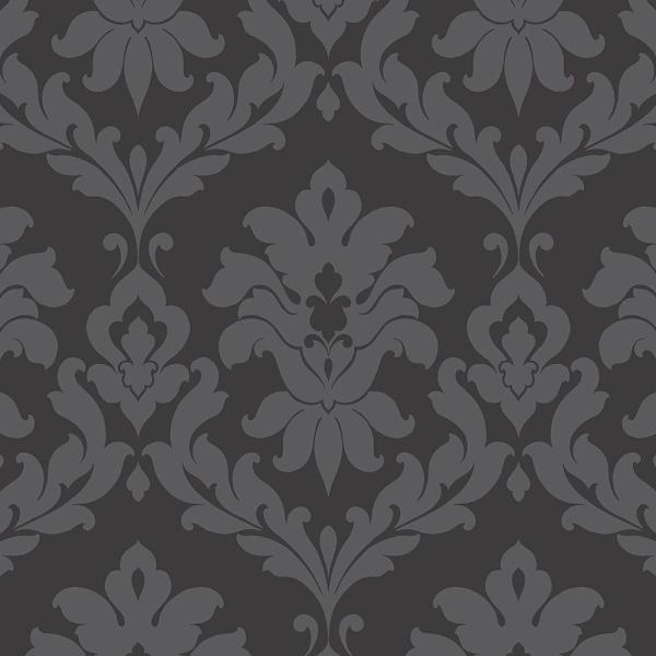 Norwall Plaza Damask Wallpaper
