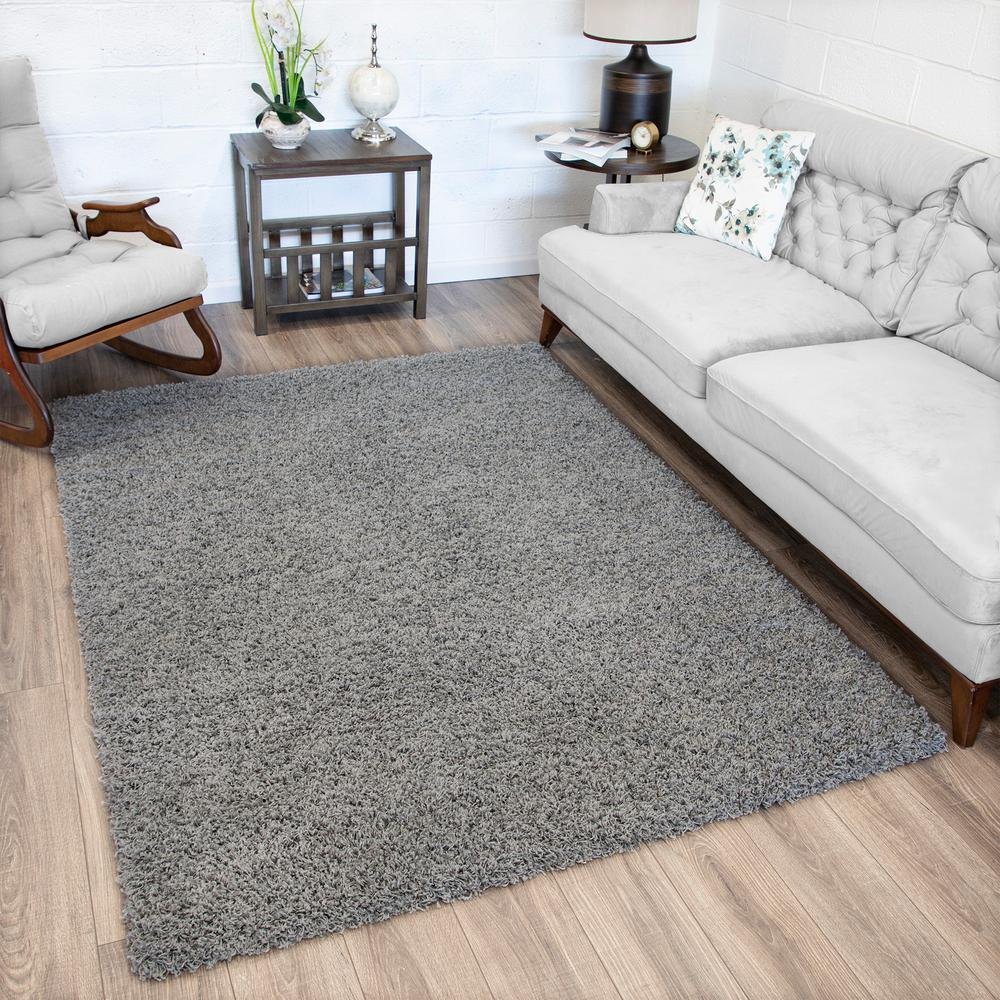 Casamode Lifestyle Shaggy Collection Grey 5 ft. x 7 ft. Shag Area Rug, Gray was $72.09 now $57.67 (20.0% off)