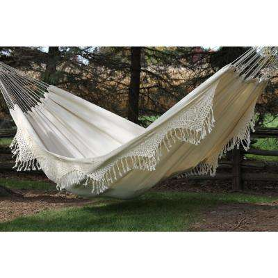 14 ft. Brazilian Cotton Double Hammock Deluxe in Natural