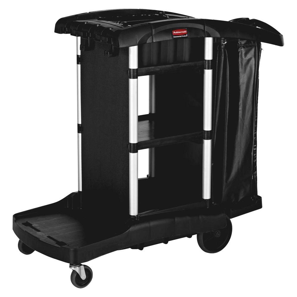 Rubbermaid High Capacity Executive Cleaning Cart, Black