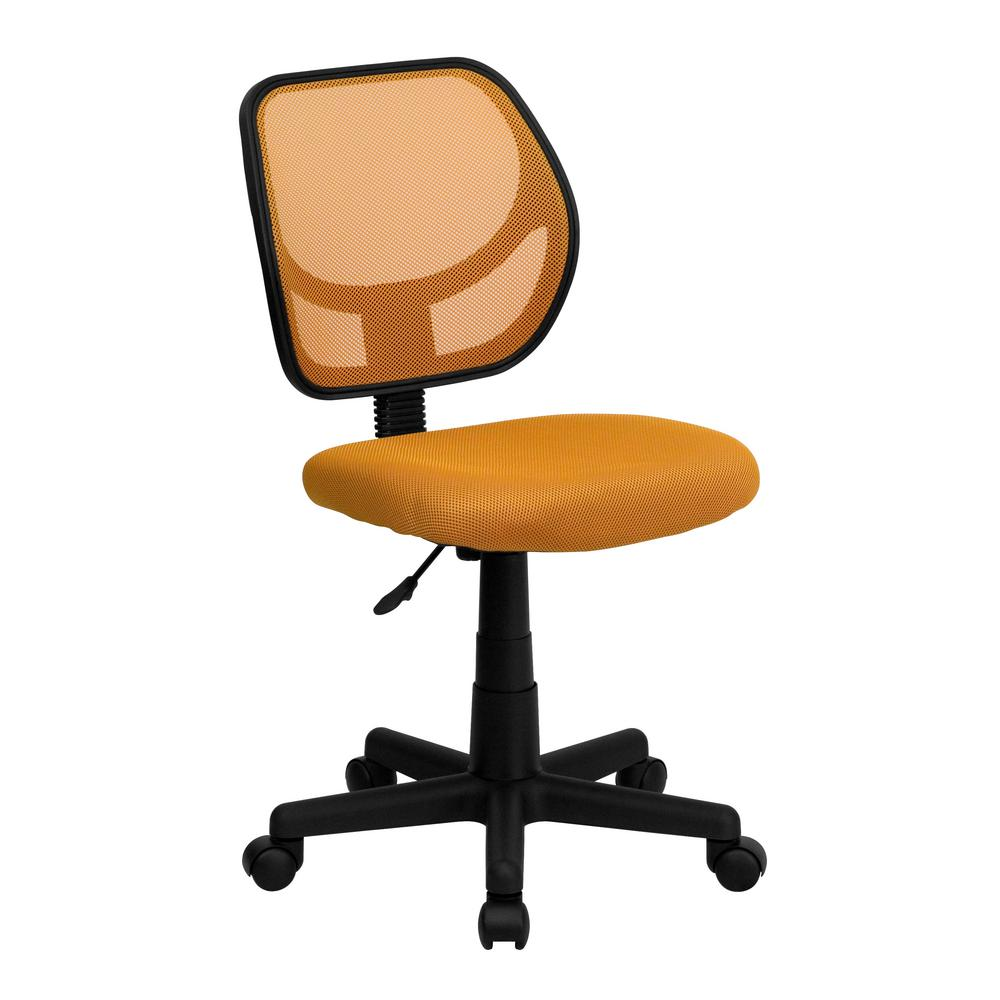 Orange Mesh Swivel Task Chair