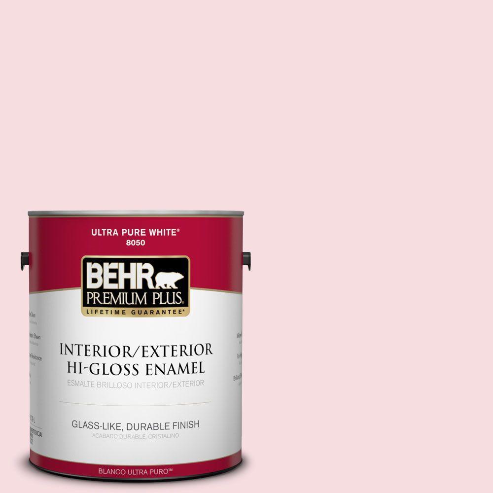 1-gal. #120A-2 Delicate Rose Hi-Gloss Enamel Interior/Exterior Paint