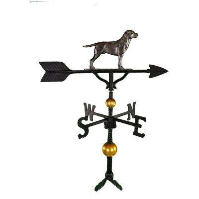 32 in. Deluxe Swedish Iron Lab Weathervane