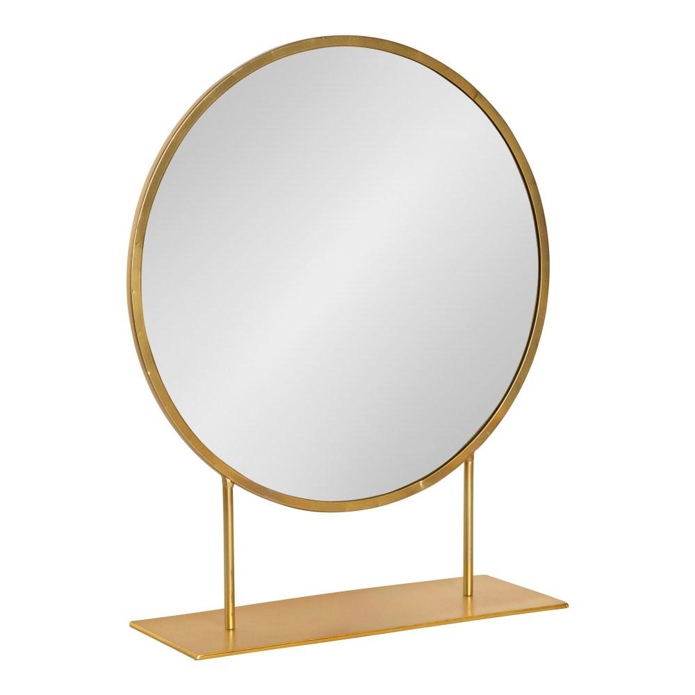 Kate and Laurel Rouen Round Gold Metal Wall Mirror was $129.99 now $77.65 (40.0% off)