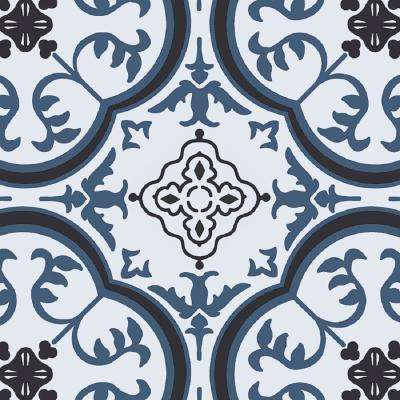 Soho Blue and Grey 13.2 ft. Wide x Your Choice Length Residential Vinyl Sheet Flooring