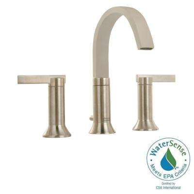 Berwick 8 in. Widespread 2-Handle High-Arc Bathroom Faucet in Brushed Nickel with Speed Connect Drain