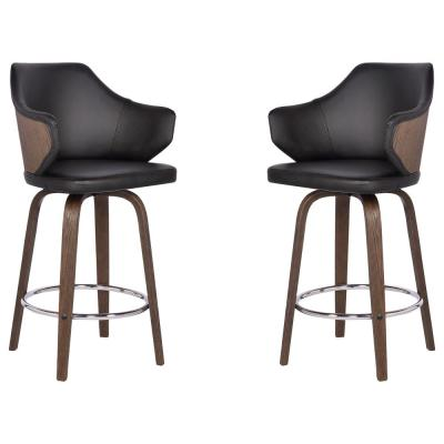 Walker 26 in. Black Barstool (Set of 2)
