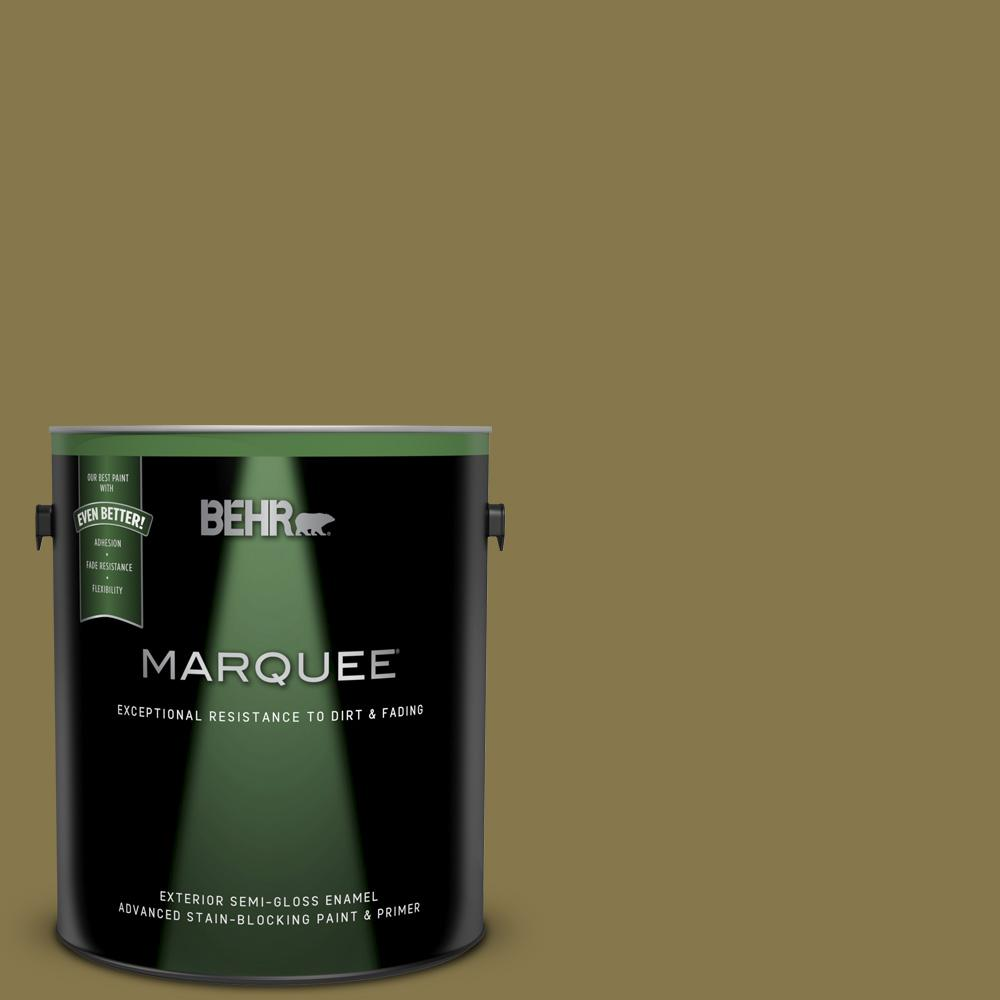 M330 7 Green Tea Leaf Semi Gloss Enamel Exterior Paint And Primer In One