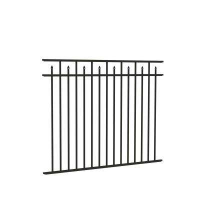 Brilliance Standard-Duty 4.5 ft. H x 6 ft. W Pewter Aluminum Pre-Assembled Fence Panel