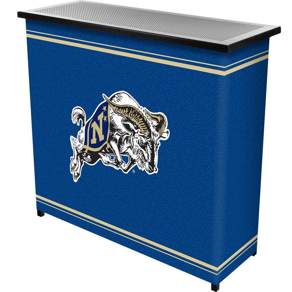 United States Naval Academy 2-Shelf Black Bar with Case