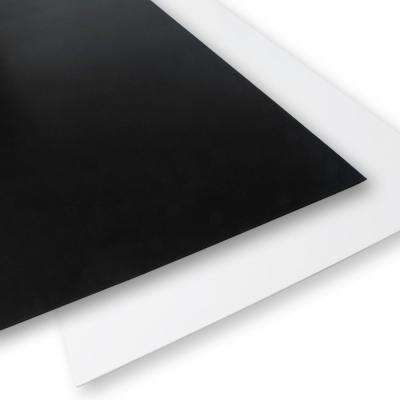 24 in x 48 in x 0.118 in. Black/White Foam PVC (4-Pack)