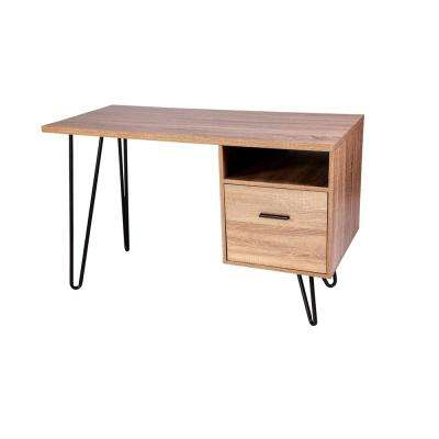 Graham Walnut Writing Desk with Hairpin Legs