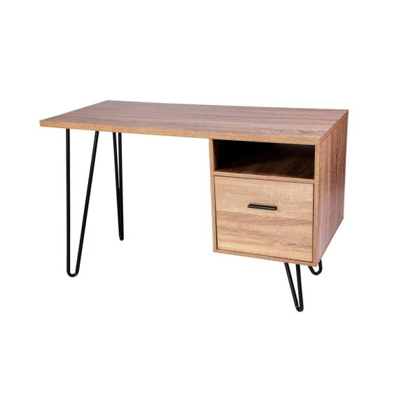 OneSpace Graham Walnut Writing Desk with Hairpin Legs 50-1801WN