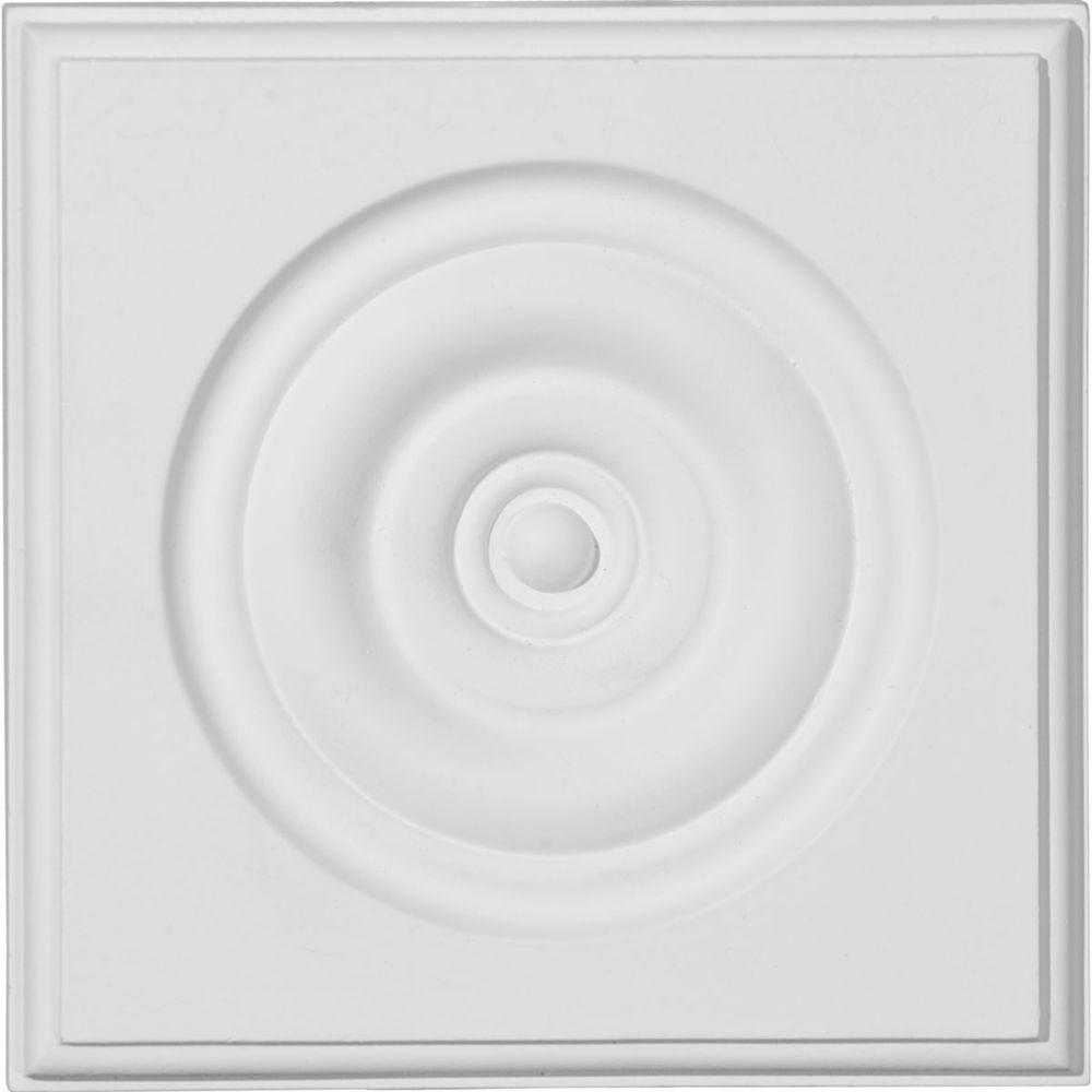 5-3/4 in. x 1-1/8 in. x 5-3/4 in. Traditional Bullseye Plinth Block