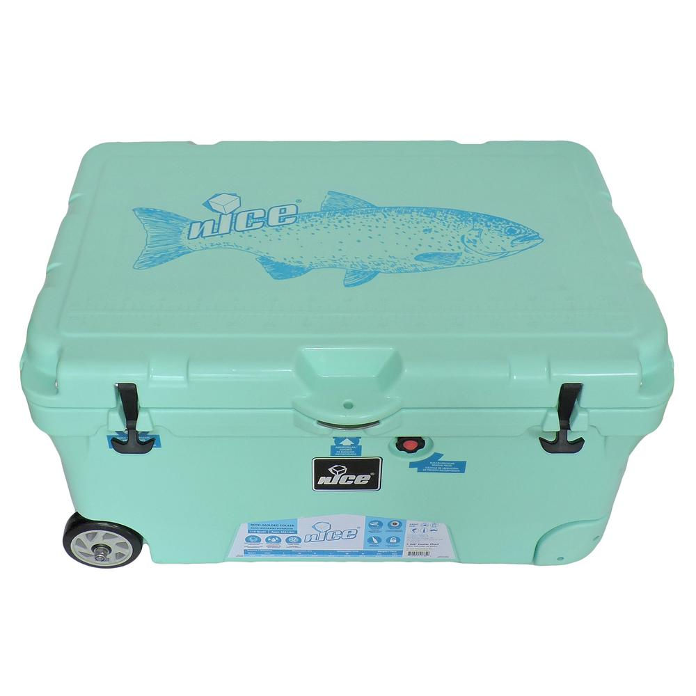 Green Styrofoam Coolers ~ Nice qt sea foam green wheeled cooler the