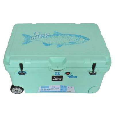 110 qt. Sea Foam Green Wheeled Cooler