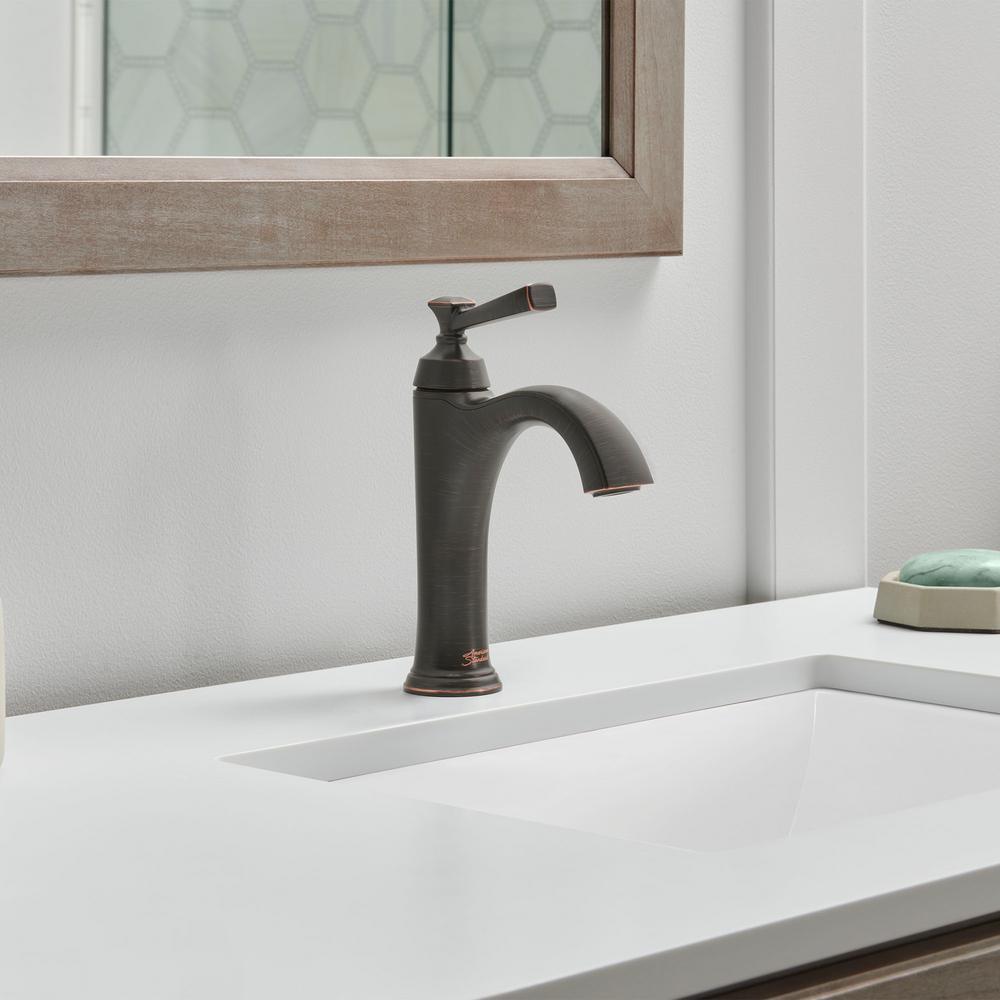 Rumson Single Hole Single-Handle Bathroom Faucet in Legacy Bronze