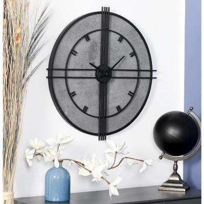 Multi-Colored Modern Analog Wall Clock with Black Accents