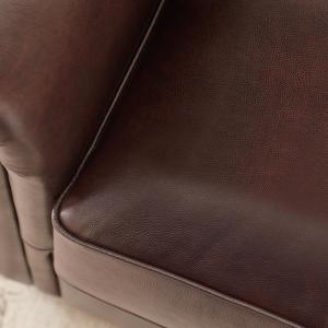 Tremendous Home Decorators Collection Alwin Chocolate Italian Leather Caraccident5 Cool Chair Designs And Ideas Caraccident5Info