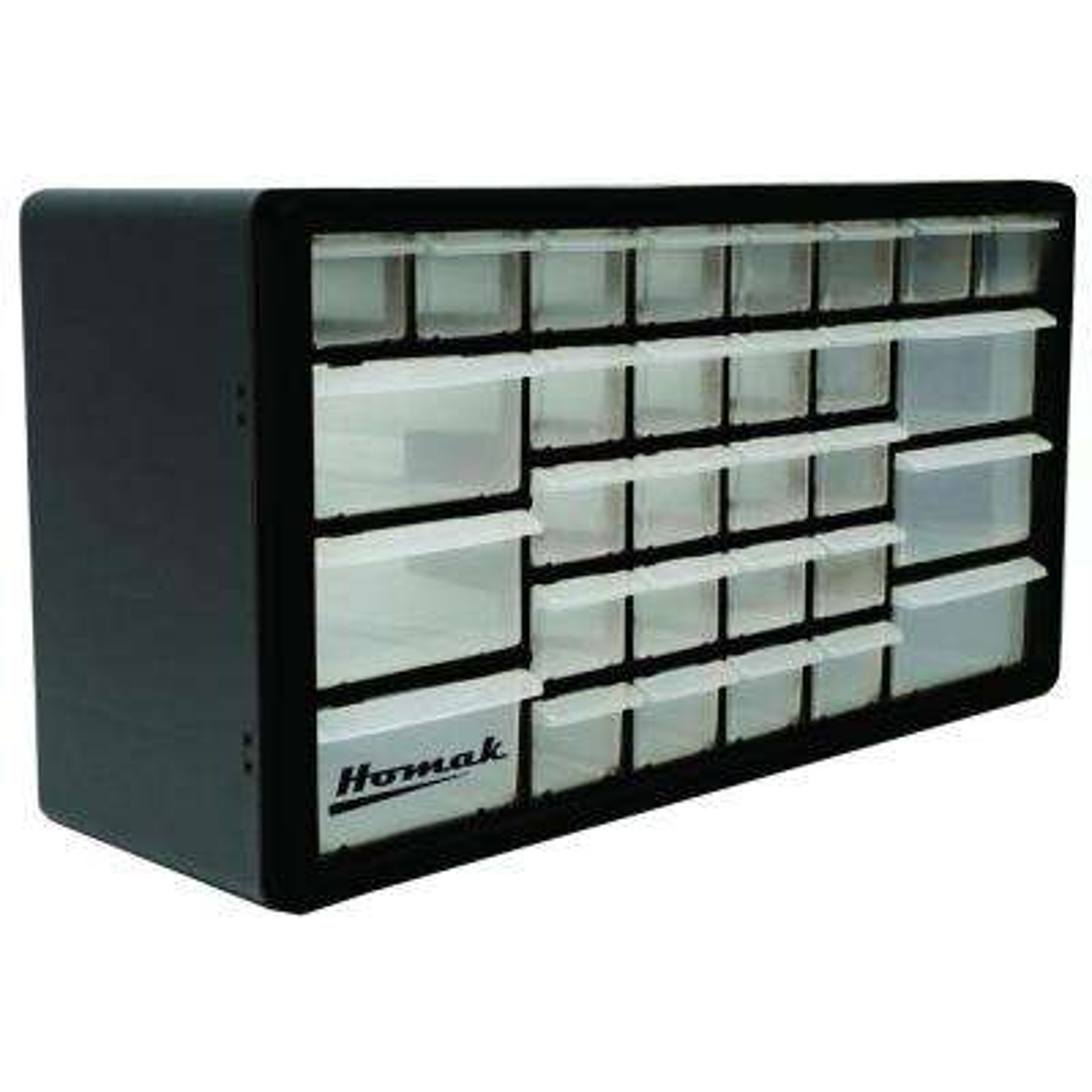 30-Compartment Non Stackable Organizer, Black