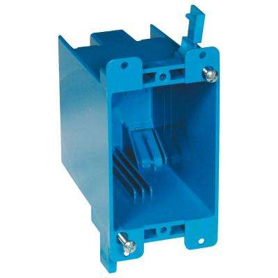 1-Gang 20 cu. in. Blue PVC Old Work Electrical Switch and Outlet Box