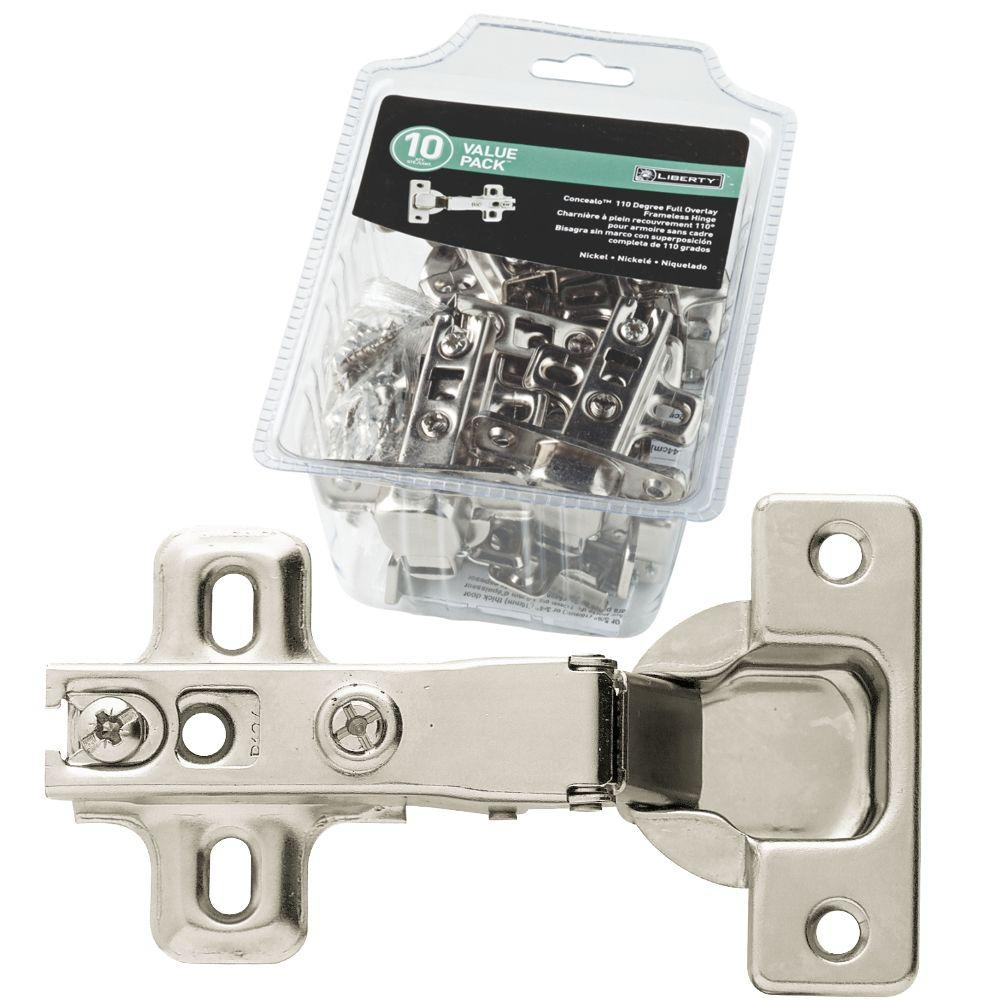 3 in. x 2-1/2 in. Full Overlay 35 mm 110° Nickel-Plated