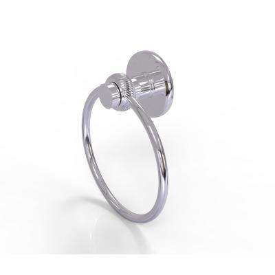 Mercury Collection Towel Ring with Twist Accent in Polished Chrome