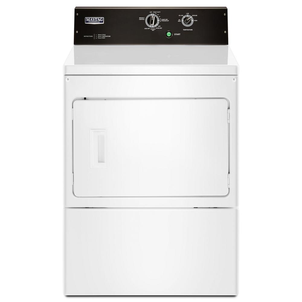 7.4 cu. ft. White Commercial-Grade Residential Dryer