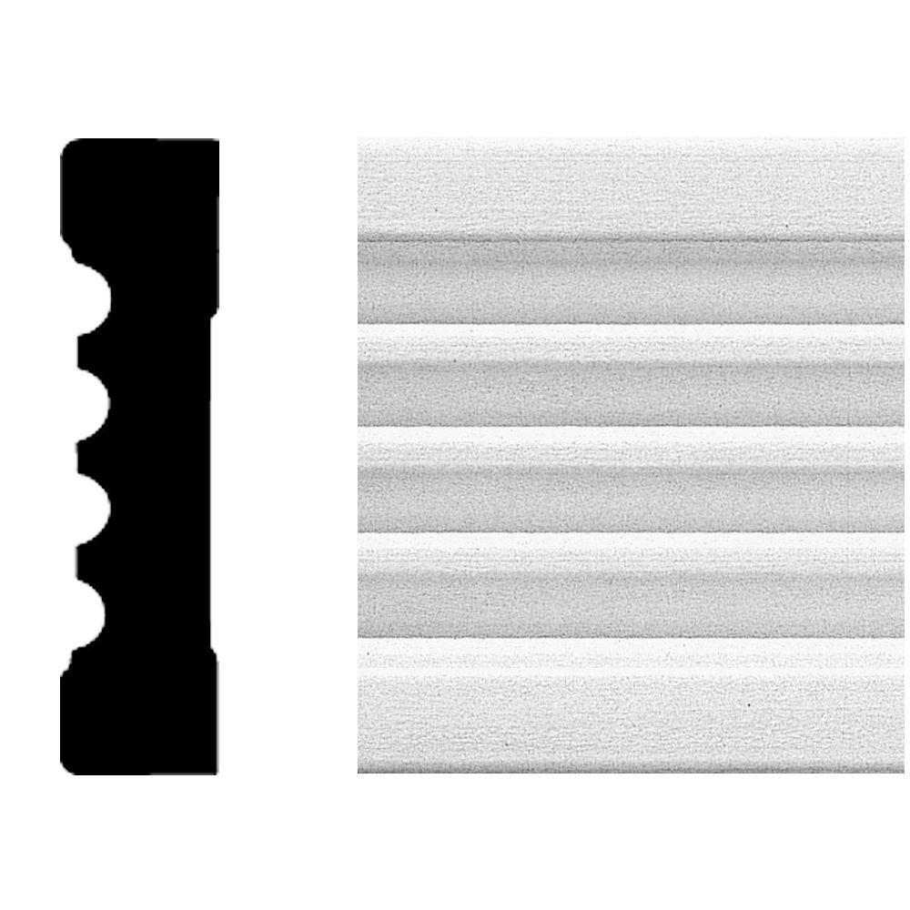 House of Fara 3/4 in. x 3 in. x 8 ft. MDF Fluted Casing Moulding