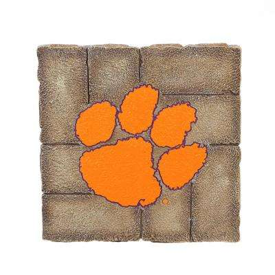 Clemson University 12 in. x 12 in. Decorative Garden Stepping Stone