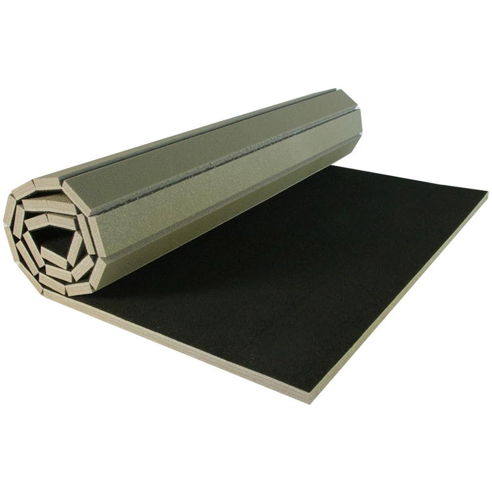 Gmats Cheer Black 5 ft. x 10 ft. x 1-3/8 in. Carpet and Foam Cheer Mat