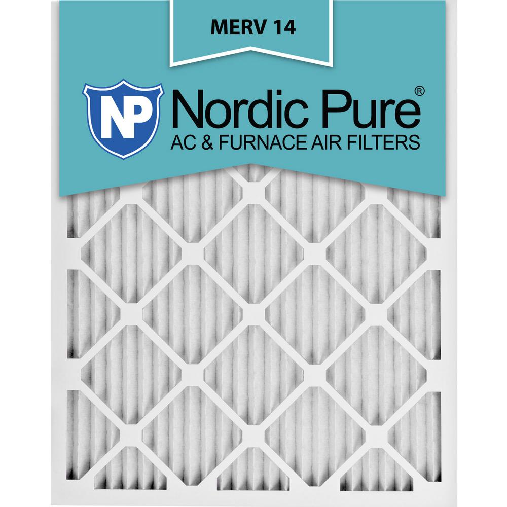 Nordic Pure 10x10x1 Exact MERV 13 Pleated AC Furnace Air Filters 6 Pack