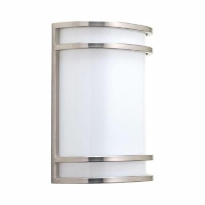 1-Light Brushed Nickel Integrated LED Wall Sconce