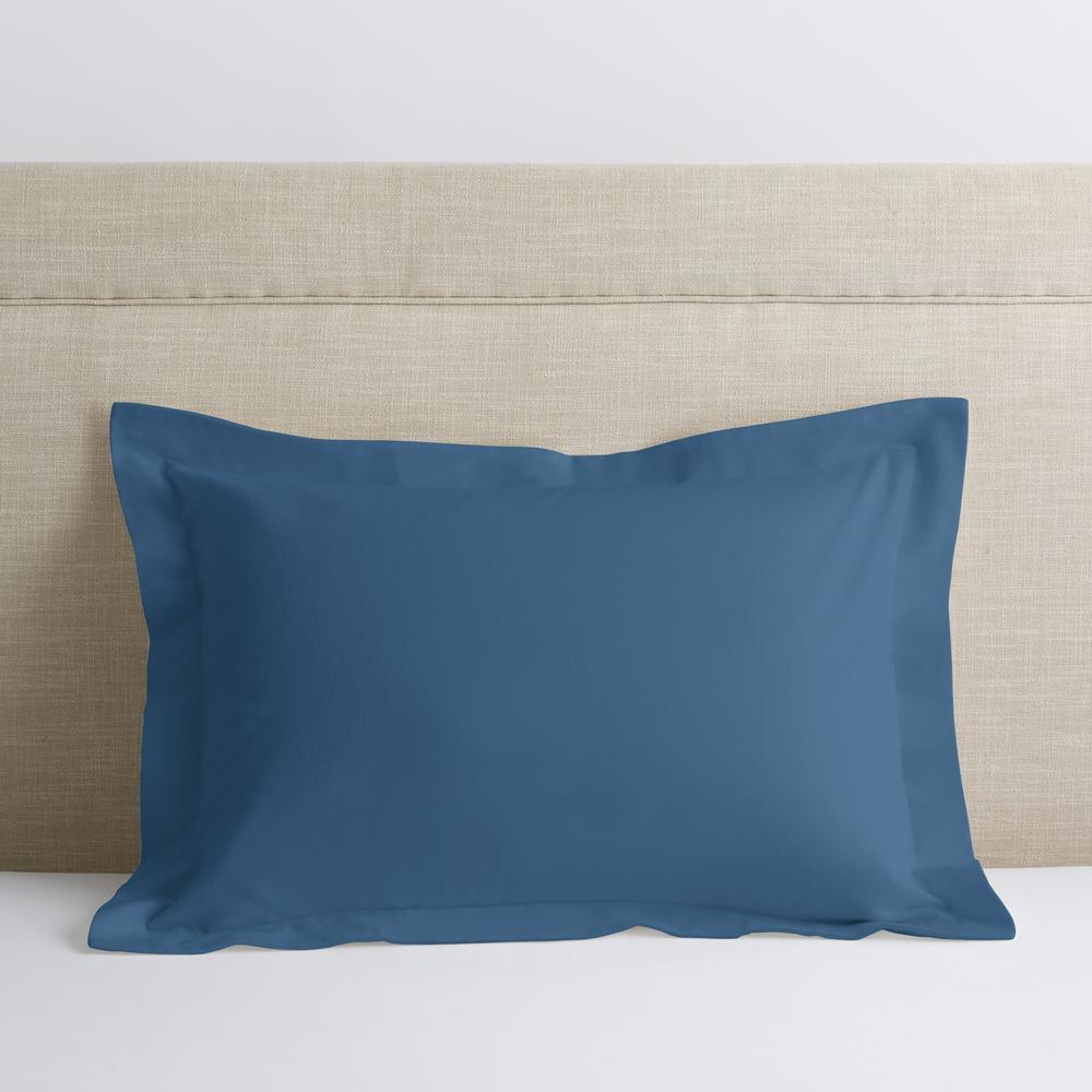 Velvet Flannel Coronet Blue Solid Cotton Standard Sham