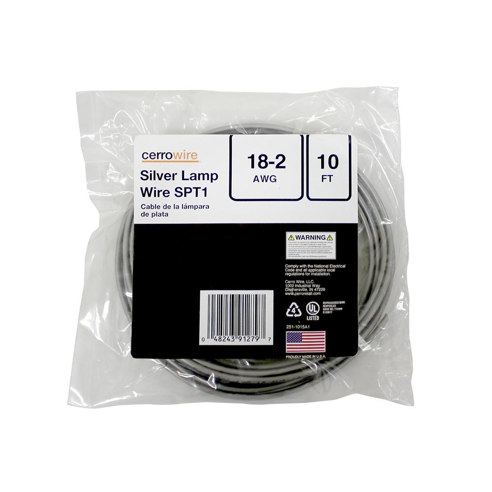 Amazing Cerrowire 10 Ft 18 2 Silver Stranded Lamp Wire 251 1015A1 The Wiring Digital Resources Unprprontobusorg