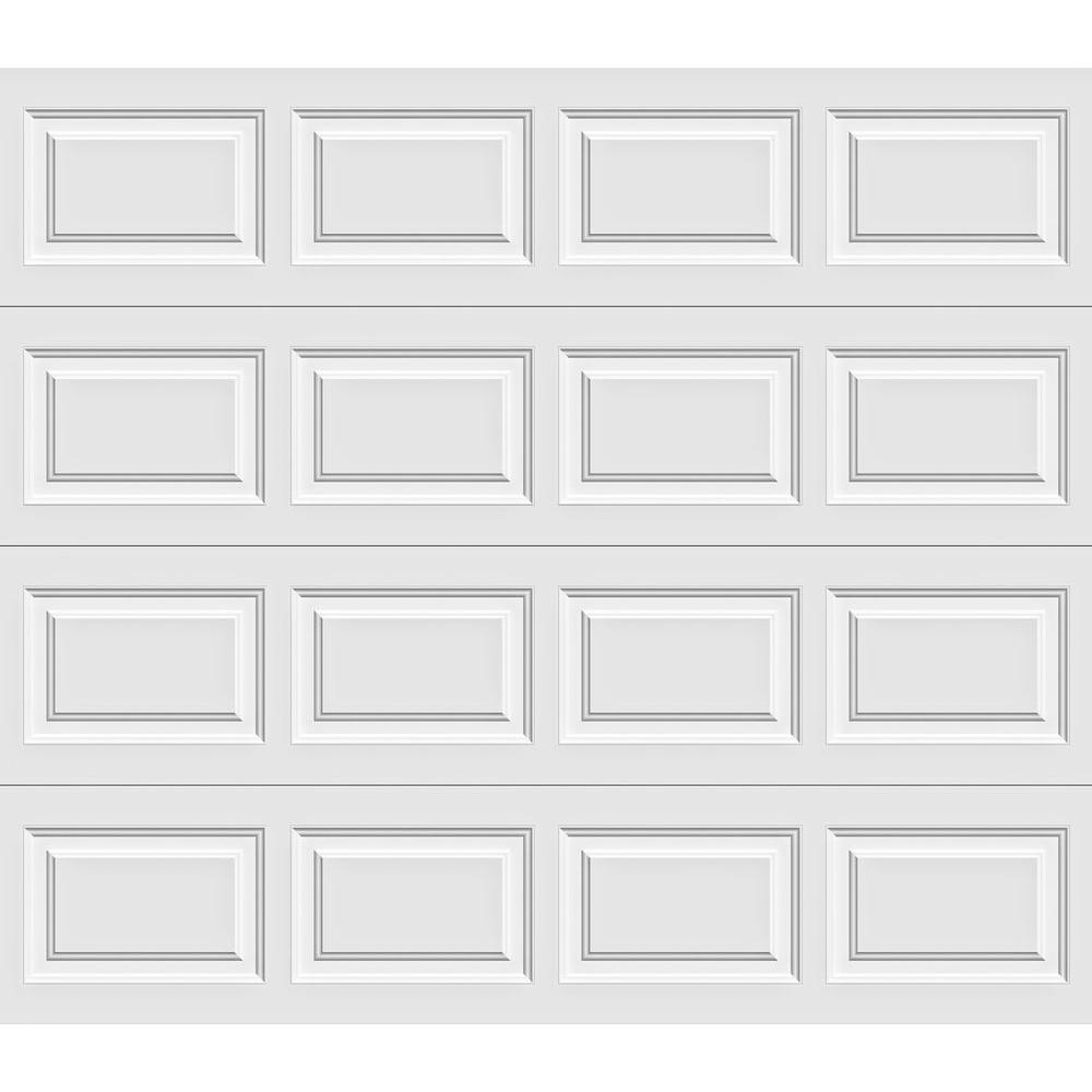 Clopay Premium Series 9 ft. x 6-1/2 ft. Insulated Short Panel White Garage Door