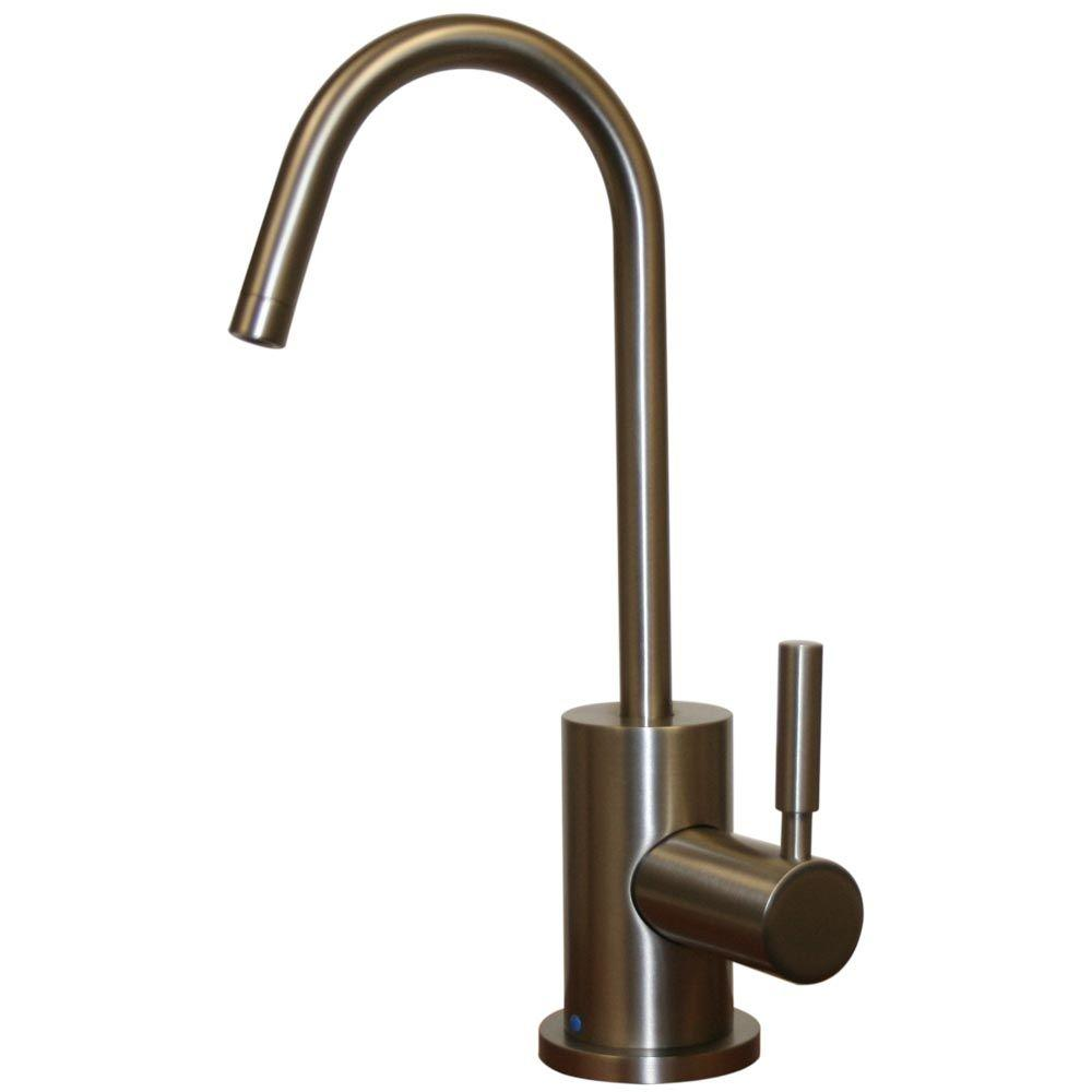 Whitehaus Collection Forever Hot 1-Handle Instant Cold Water Dispenser in Brushed Nickel