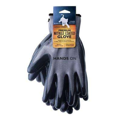 Unisex Large Premium Nitrile Coated Gloves (3-Piece per Pack)