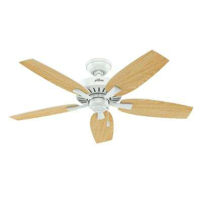 Atkinson 46 in. Indoor Fresh White Ceiling Fan with Light Kit Bundled with Handheld Remote Control