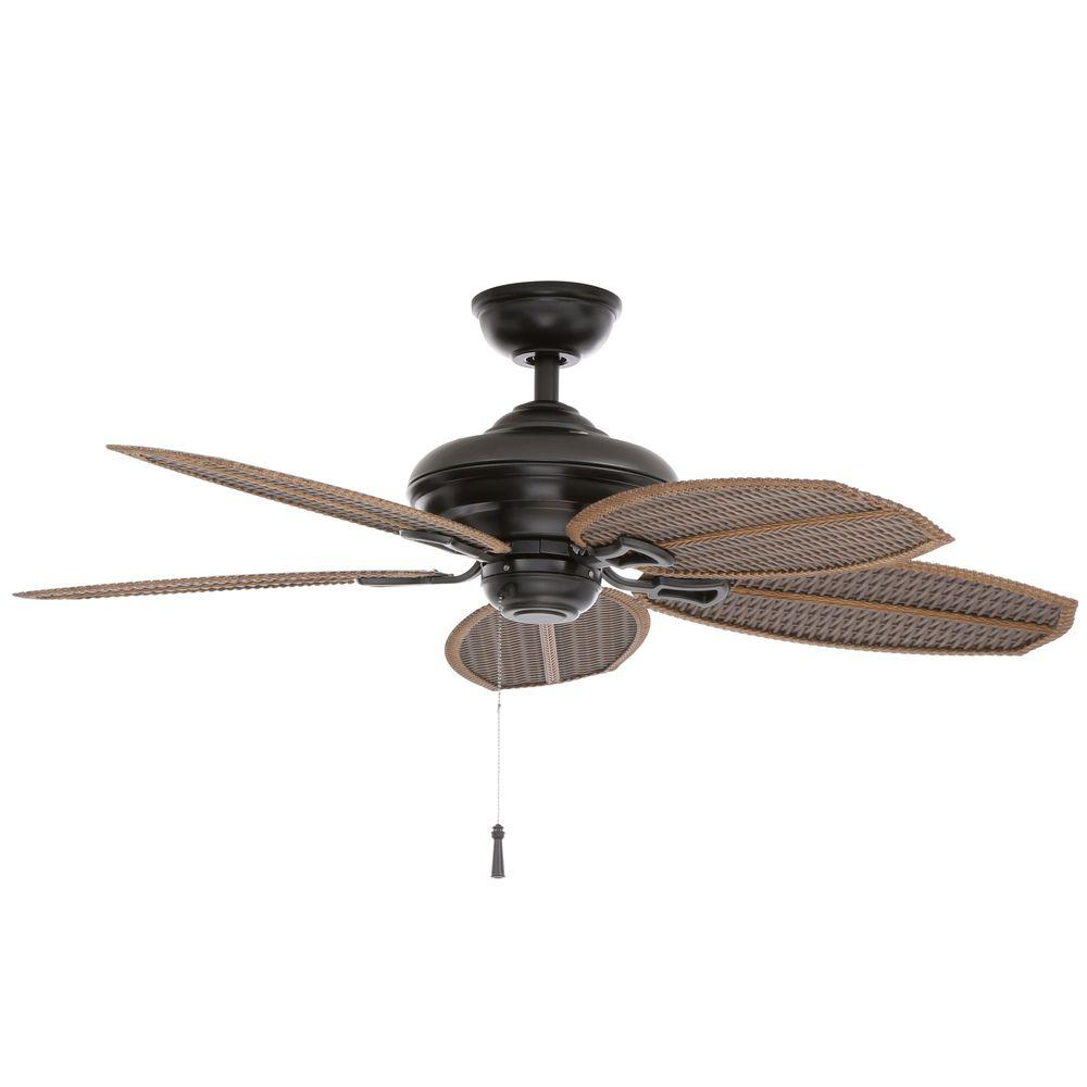 beachy ceiling fans. Hampton Bay Palm Beach II 48 In. Indoor/Outdoor Natural Iron Ceiling Fan-59299 - The Home Depot Beachy Fans C